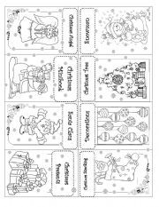 English worksheet: ***CHRISTMAS MINI BOOK***