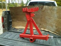 "This is a custom built Log Skid, with 2 chain hookup, 2"" hitch receiver, & a chain rack. This is #54"