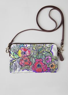 Spring Leather Clutch