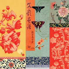 20 napkins - 33 x 33 cm Asia,  Other - patterns,  Animals - butterflies,  Flowers - other,  Summers,  lunchnapkins