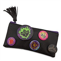 Descendants Pencil Case   Disney Store Become the star pupil of Auradon Prep with our <i>Descendants</i> pencil case featuring button pins to express your allegiance to all things mischievous.