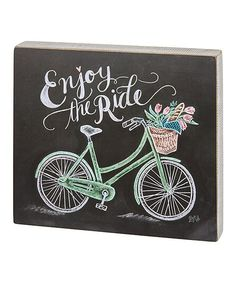 'Enjoy the Ride' Chalk Block Sign