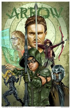 Image result for cw superhero shows art