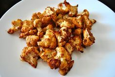 Healthy Cauliflower Poppers~tasted great and I just used olive oil,chili powder,garlic,cracked pepper/salt. Super low cal and makes a great side or snack.