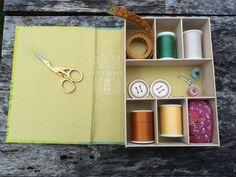 Repurposed Book Sewing Kit