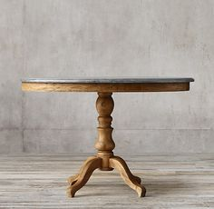 """I think this is the size we've been looking for!! 42"""" x 35"""" oval.  1840 Bluestone Pedestal Dining Table"""