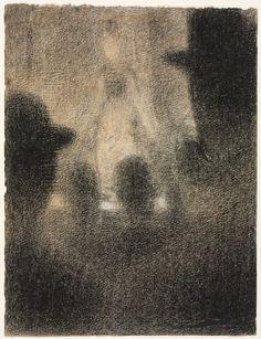 1887-8 Café-concert conté crayon & chalk on paper 31.4 x 23.6