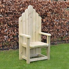 The Storyteller chair is designed for adults and compliments our smaller Story Chair perfectly. Made to the same high standard as the rest of the Story chair range, it can be used either indoors or outdoors and makes a feature in any room. Wooden Garden, Wooden Diy, Childrens Garden Furniture, Pallet Furniture, Outdoor Furniture, Monkey Pod Wood, Throne Chair, Outdoor Chairs, Outdoor Decor