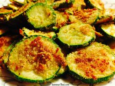 Zucchini Parmesan Crisps - healthy side. #healthy #recipe #vegetarian