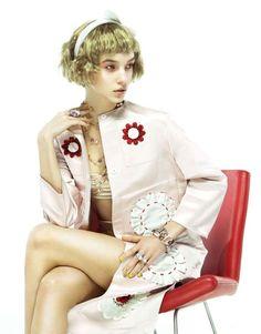 Eccentric Feminine Editorials - The ELLE Russia March 2013 Stars a Colorful Cordelia Kuznetsova (GALLERY)