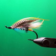 Blue Charm Salmon Fishing Fly by Call of the Wild Flies on Etsy, $7.50