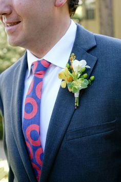 This groom sported a funky tie for his Lake Tahoe wedding. Photo courtesy of Lovato Images.