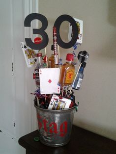 Centerpiece for 30th birthday for men