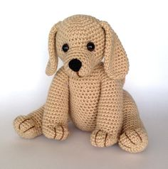 PDF CROCHET PATTERN Golden Retriever Puppy by bvoe668 on Etsy