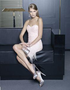pink dress by Rosa Clara