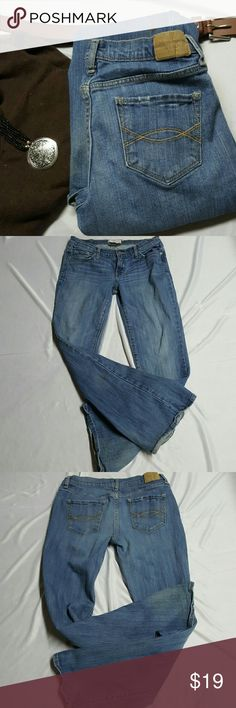 "ABERCROMBIE AND FITCH JEANS These are Pre-loved jeans as seen in last picture there is some discoloration and a darker brown spot the spot is on back of left leg and the discoloration is down at bottom they are a size 4S and have 5 pockets  And they do have stretch  14.5 FLAT WAIST  6.5 RISE 29"" INSEAM  36.5 TOTAL LENGTH  9"" OPENING  ANY QUESTIONS PLEASE FEEL FREE TO ASK  THANKS FOR LOOKING AND HAPPY POSHING ❣❣ Abercrombie & Fitch Jeans"