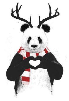 Rudolph Panda en Impression sur alu dibond