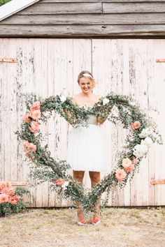 Fun heart decor: http://www.stylemepretty.com/australia-weddings/2015/02/05/floral-heart-inspiration/ | Photography: Patricia Hau - http://www.patriciahauphotography.com/