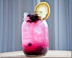 Blueberry Vodka Lemonade.