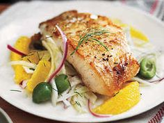 Sustainable choice: U.S. white sea bass--not to be confused with Chilean sea bass.