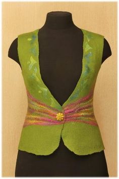 Felted Vest Tutorial by LubaV Старый друг - жилет. Часть 1. - Ярмарка Мастеров - ручная работа, handmade
