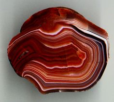 Lake Superior Agate   Lake Superior agate with the typical brown/red and whiteshades and ...