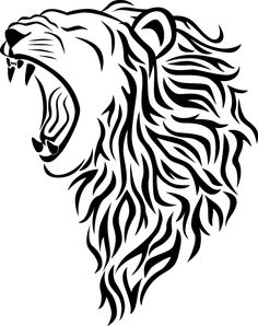 Image from http://www.freetattoodesigns.org/images/tattoo-gallery/tribal-lion-tattoo.gif.