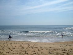 It's a warm morning in Duck, NC, and the ocean water feels refreshing!  6.4.2014