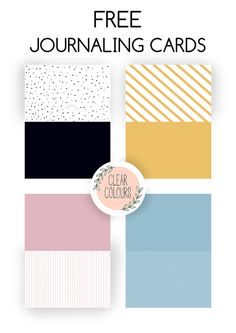 Free Halfs Journaling Cards | clear colours