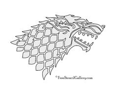 game of thrones stencil printable - Buscar con Google