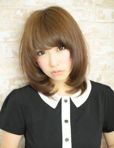 モテ暗髪ミディアム(HI-238) | ヘアカタログ・髪型・ヘアスタイル|AFLOAT(アフロート)表参道・銀座・名古屋の美容室・美容院