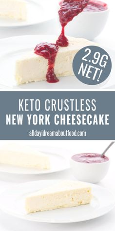 Keto New York Cheesecake Creamy, delicious, and less than total carbs per slice! This heavenly New York Style Keto Cheesecake is the ultimate low carb dessert. And they say the keto lifestyle isn't sustainable. This dessert makes it EASY to stay on track. Oreo Dessert, Dessert Recipes, Dinner Recipes, Cocktail Recipes, Breakfast Recipes, Dessert Ideas, Cookie Recipes, Keto Friendly Desserts, Low Carb Desserts