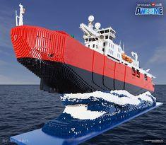 Breaking ice with over 100,000 LEGO bricks