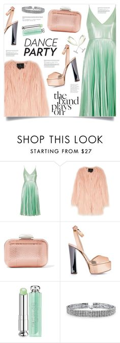 """The Band Plays On ..."" by marina-volaric ❤ liked on Polyvore featuring Topshop, Unreal Fur, Jimmy Choo, Giuseppe Zanotti, Christian Dior, Bling Jewelry, Crate and Barrel and danceparty"