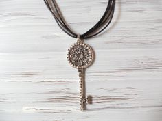 Key necklace handmade necklace special gift by fundademircan, $7.80
