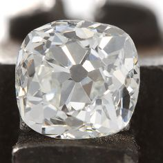 Diamond old mine .76 carat   GIA report certificate J VS1   early cushion brilliant cut Loose diamond   Antique Vintage   circa 1900 by DavidJThomasJewelry on Etsy