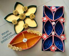 Decorative dry fruits platter Indian Wedding Favors, Desi Wedding Decor, Wedding Crafts, Wedding Stage, Wedding Favours, Thali Decoration Ideas, Diy Diwali Decorations, Festival Decorations, Stage Decorations