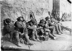 Japanese troops taking a break in Manchuria, circa Sep-Oct 1931