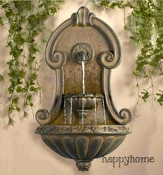 Wall Water Fountain Copper Finish  http://cgi.ebay.com/ws/eBayISAPI.dll?ViewItem&item=261504469830