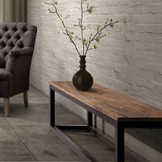 Have to have it. Zuo Modern Civic Center Bench - Distressed Natural - $330 @hayneedle