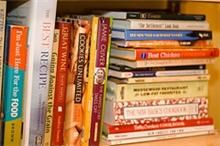 I have similar piles and stacks of cookbooks.