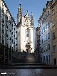 Maria am Gestade (English: Mary at the Shore) is a Gothic church in Vienna, Austria. One of the oldest churches in the city—along with St. Austria Tourism, Austria Travel, North Tower, Honeymoon Pictures, Heart Of Europe, Classic Architecture, Vienna Austria, Kirchen, Wonderful Places