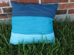 Untrendy Life: Pin Tuck Wave Beach Blue Pillow