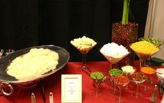 Mashed potato bar. Would also be great as a creamy polenta bar!