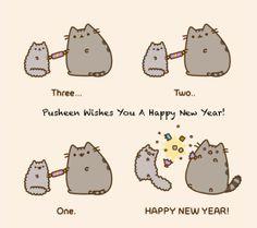 Pusheen wenst je een happy new year