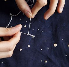 Embroidery 101: French Dot Constellation Runner