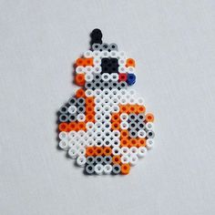 BB-8 Star Wars VII hama beads by danipixelart