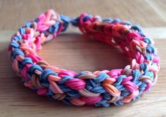 A personal favorite from my Etsy shop https://www.etsy.com/listing/229347372/loom-band-bracelet-tyre-track