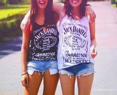 // Good friends are like stars, you don't always see them but you know they're always there // Jack Daniels Party, Jack Daniels Tshirt, Holiday Outfits, Summer Outfits, Whiskey Girl, Best Friend Pictures, Best Friend Goals, Bff Goals, S Girls