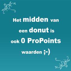 Het midden van een donut is ook 0 ProPoints waarden ;-) #WeightWatchers